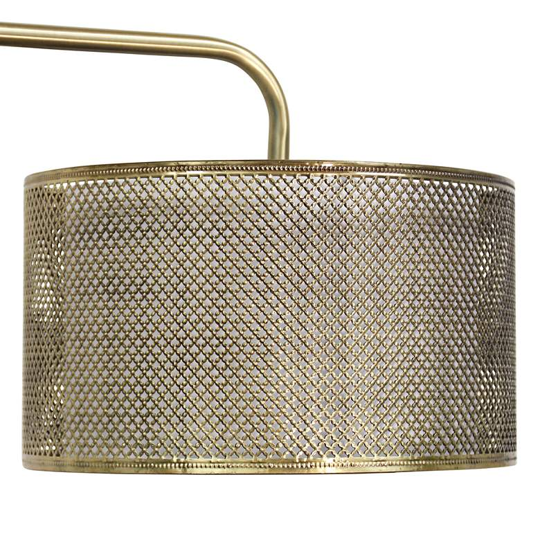 Hastings Brass Steel Floor Lamp with Mesh Shade more views