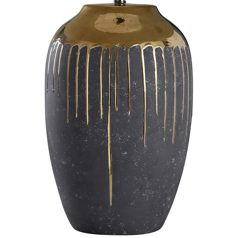 "Marloe 35"" High Gold Drip Ceramic Table Lamp more views"