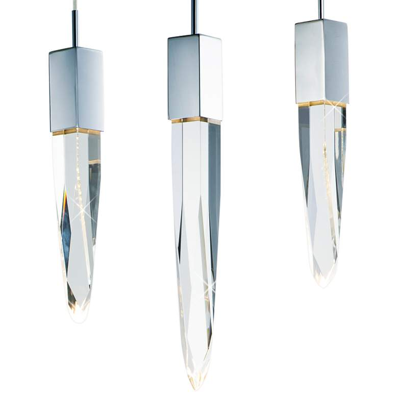 "ET2 Quartz 39 1/4""W Polished Nickel 6-Light LED Island Pendant more views"