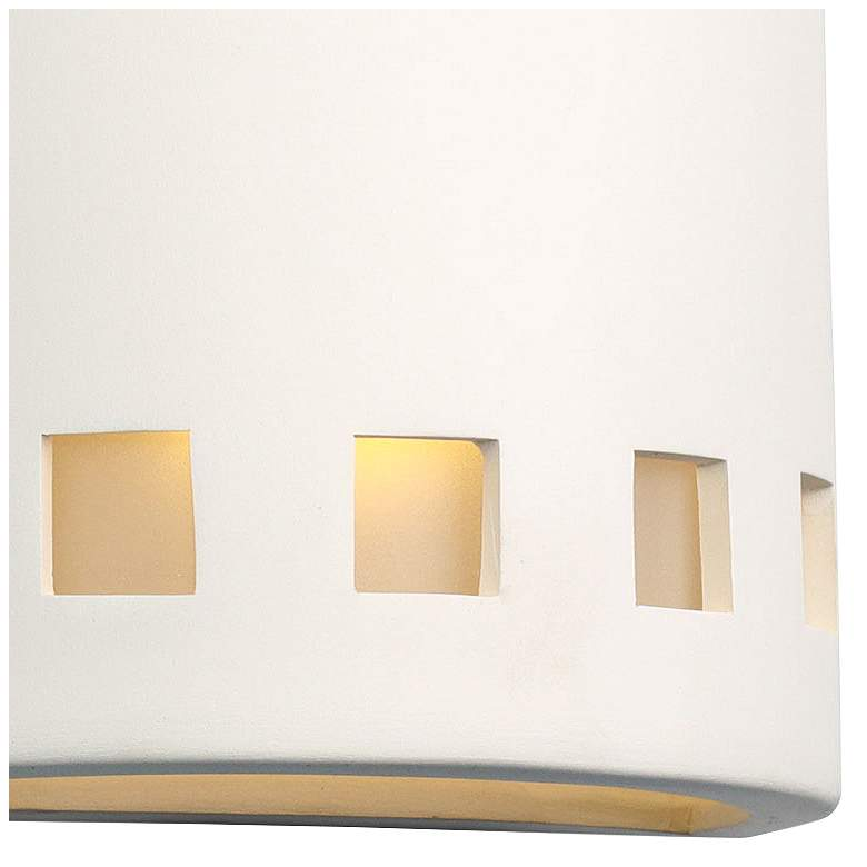 "Jaken 10"" High Paintable White Bisque Outdoor Wall Light more views"