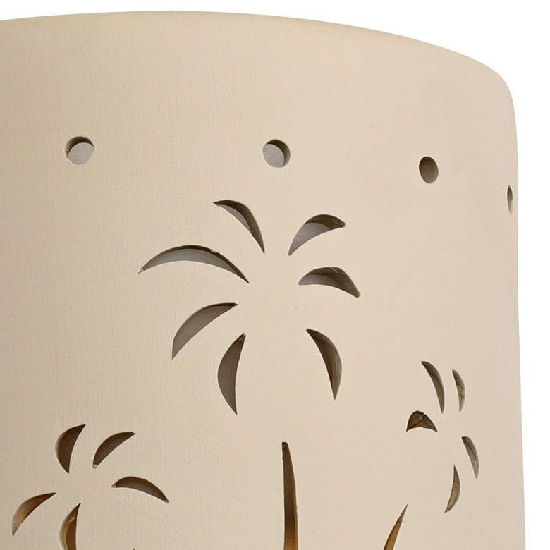 "Mirage Flats 10"" High Cottonwood Ceramic Outdoor Wall Light more views"