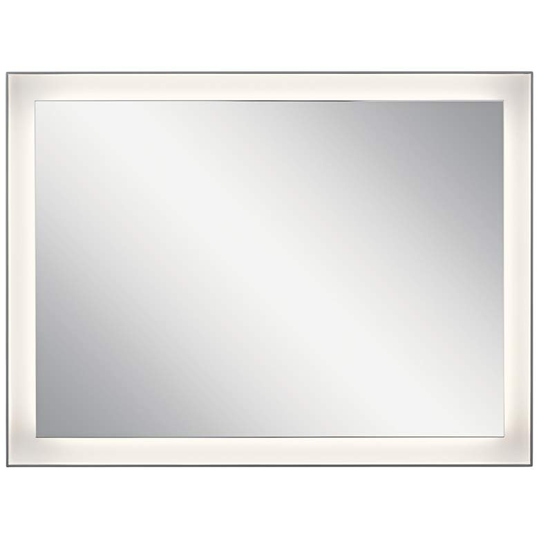 "Elan Ryame Matte Silver 23 1/2"" x 31 1/2"" LED Wall Mirror more views"