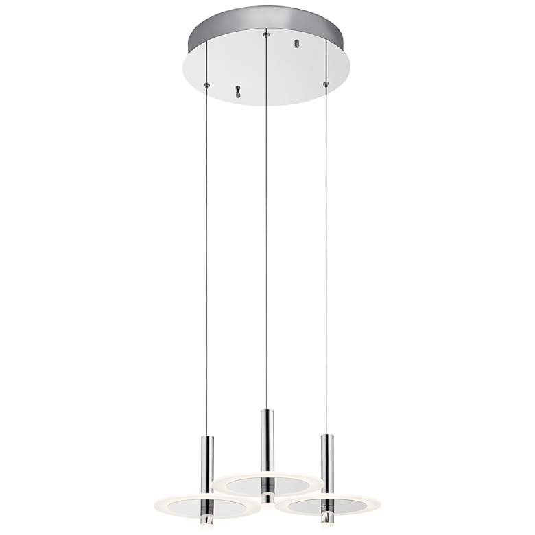 "Elan Discs 22 1/2""W Polished Nickel LED Multi Light Pendant more views"