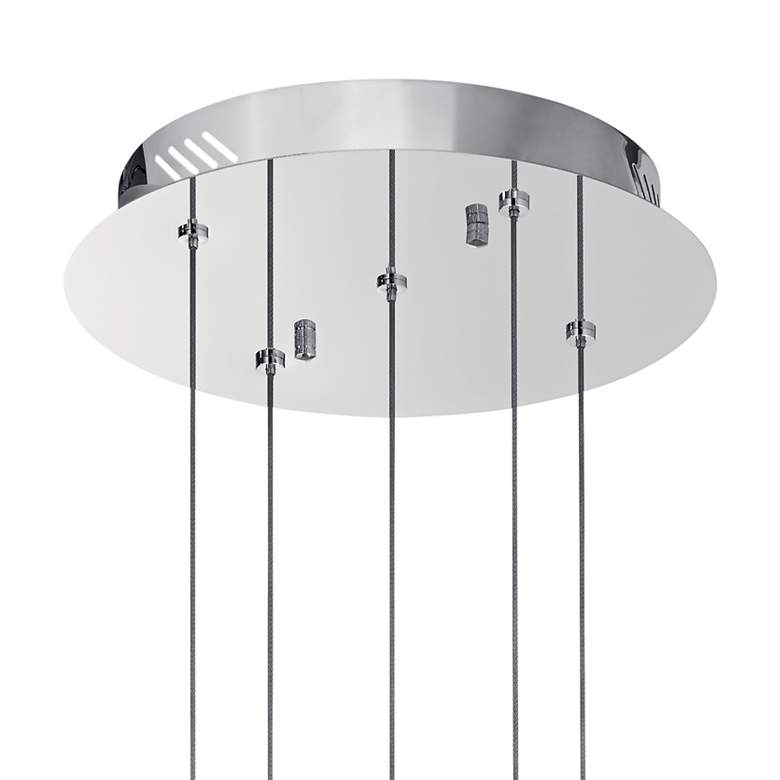 "Elan Metro 11 3/4""W Polished Nickel LED Multi Light Pendant more views"