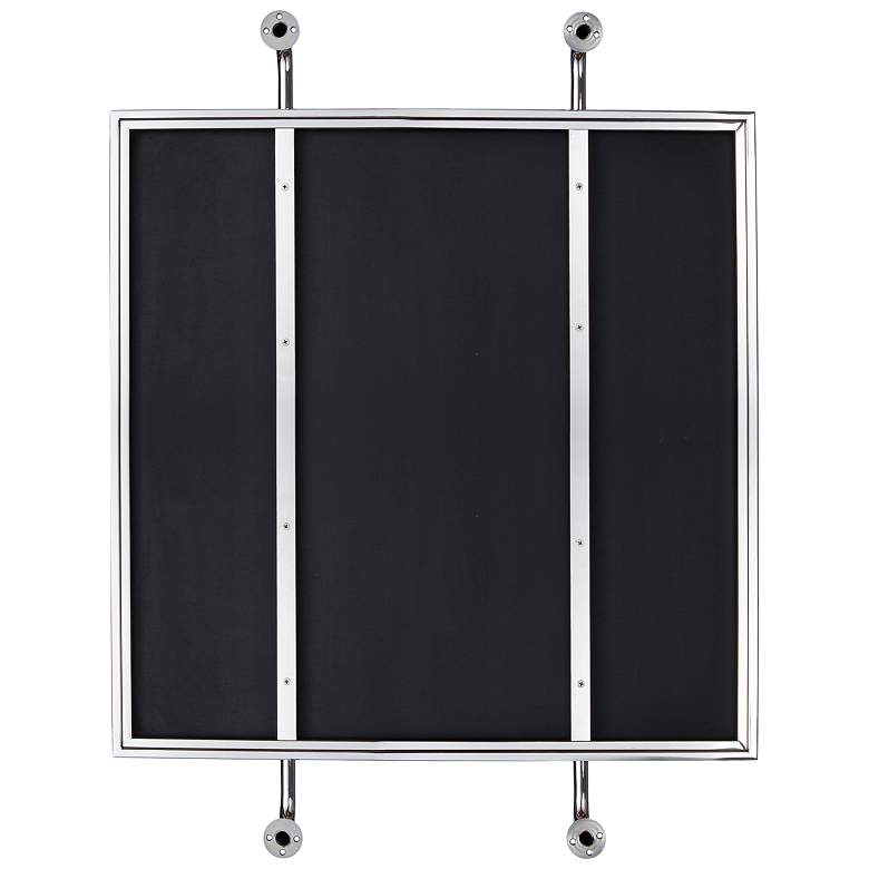 "Varaluz Casa Tycho Polished Nickel 26""x32"" Wall Mirror more views"