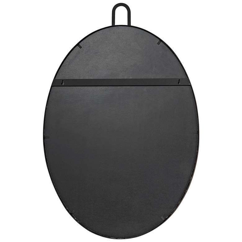 "Varaluz Casa Stopwatch Black 22"" x 30"" Oval Wall Mirror more views"