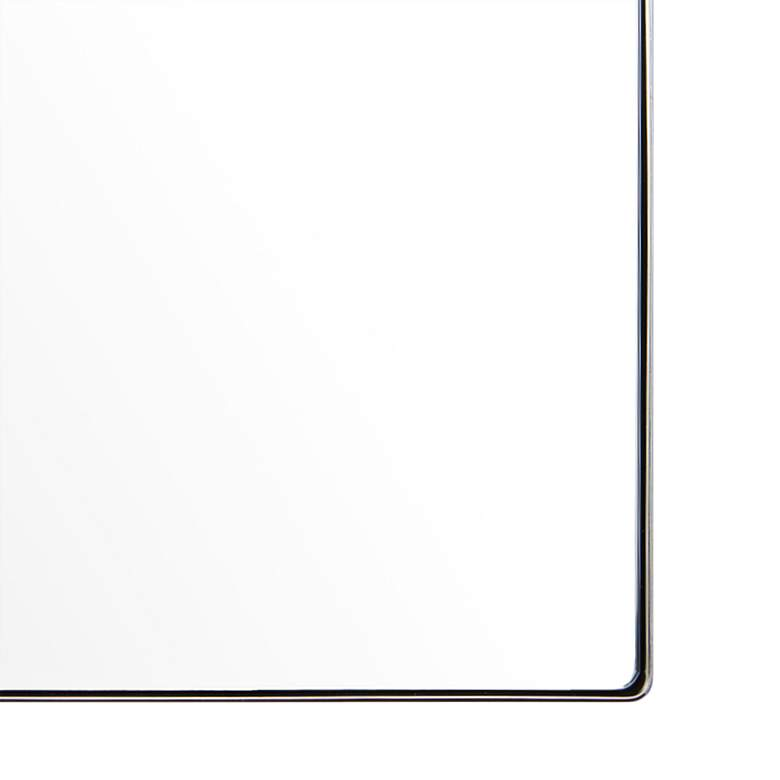 "Varaluz Casa Kye Polished Nickel 40"" x 22"" Wall Mirror more views"