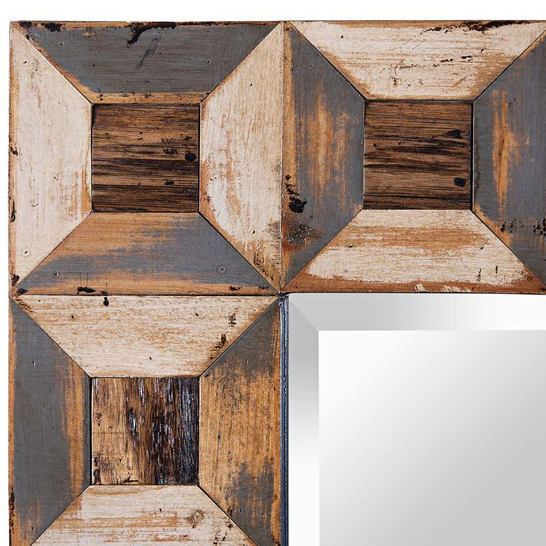 "Varaluz Casa Tiki Reclaimed Wood 30"" x 40"" Wall Mirror more views"