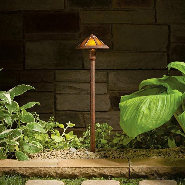"Kichler 22 1/2"" High Tannery Bronze Landscape Path Light more views"