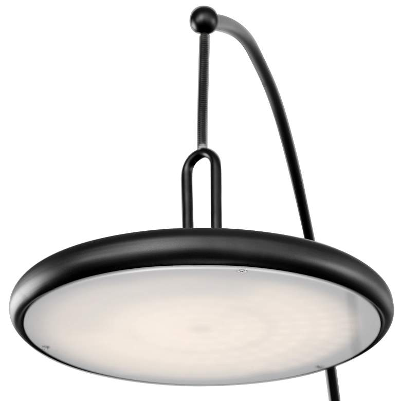 Lite Source Sailee Black LED Arc Floor Lamp more views