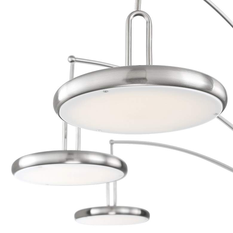 Lite Source Sailee Brushed Nickel 3-Light LED Arc Lamp more views