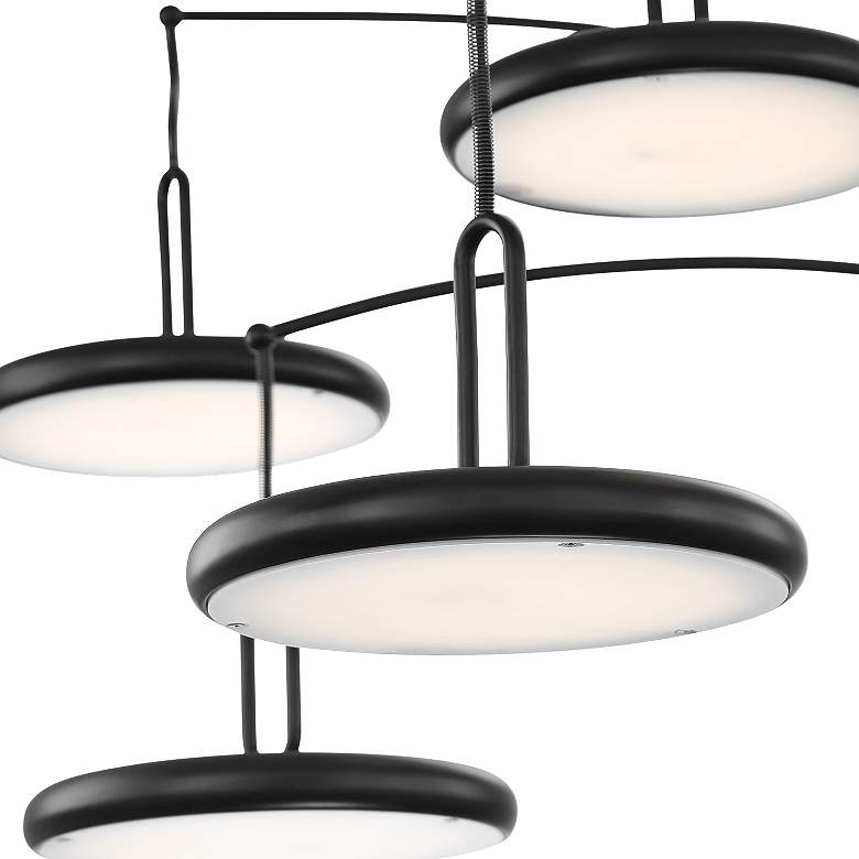 Lite Source Sailee Black 5-Light LED Arc Floor Lamp more views