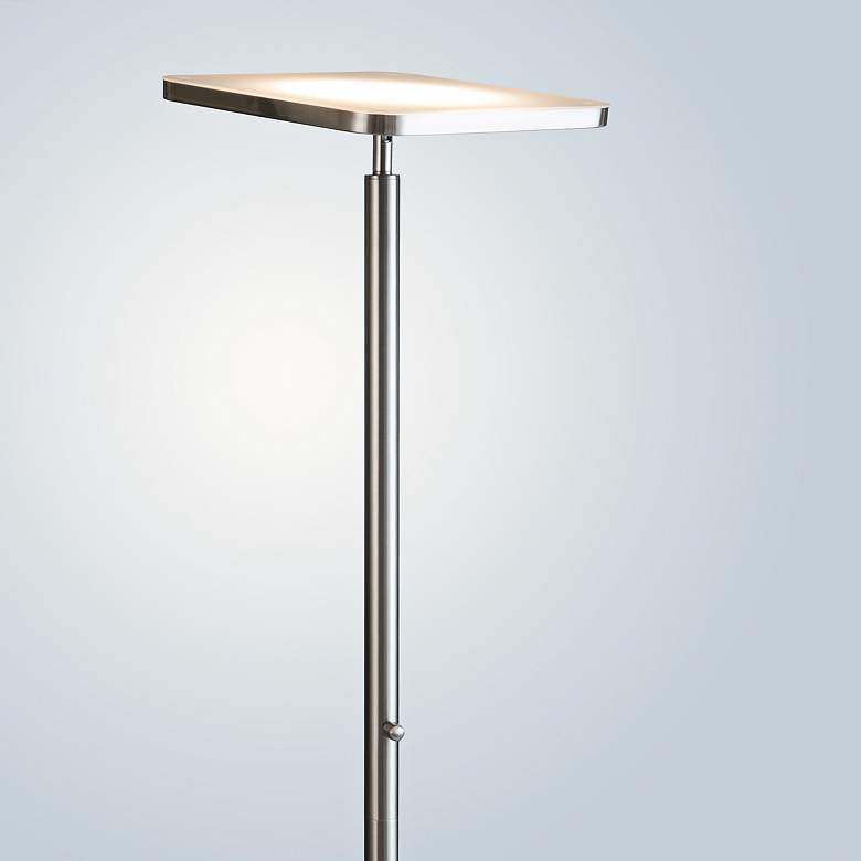 Lite Source Hector Brushed Nickel LED Torchiere Floor Lamp more views