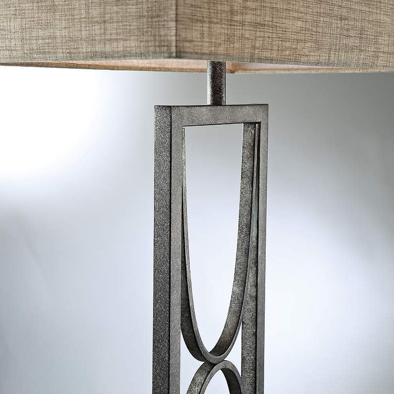 Lite Source Jefferson Aged Silver Open Frame Floor Lamp more views