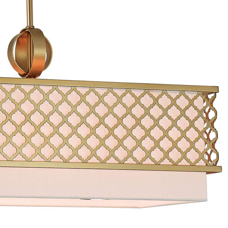 "Arabesque 39 3/4""W Soft Gold Kitchen Island Light Pendant more views"