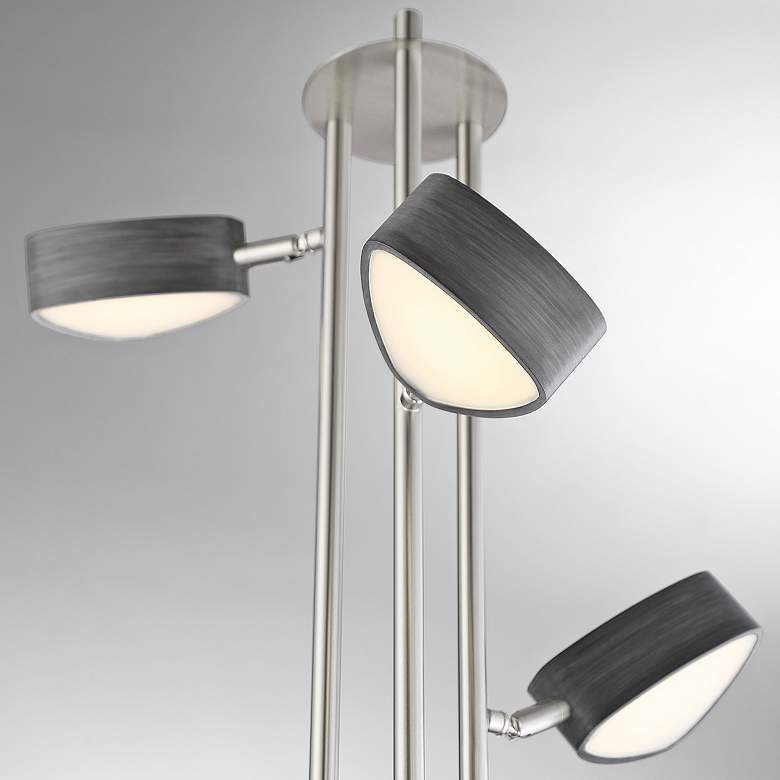 Lite Source Charlyne Brushed Nickel 3-Light LED Floor Lamp more views