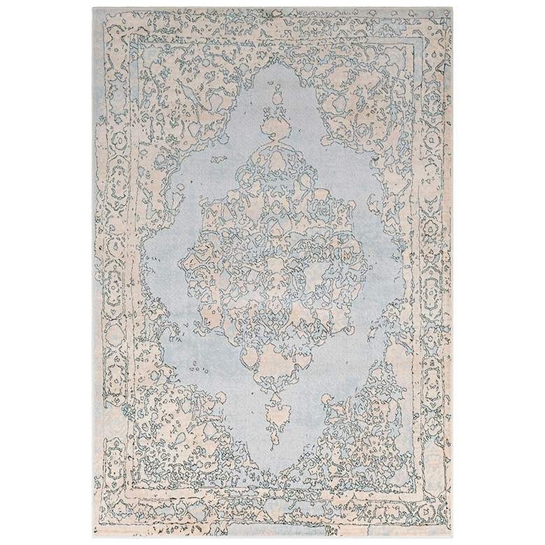 "Surya Asia Minor 5'3""x7'3"" Denim and Cream Area Rug more views"