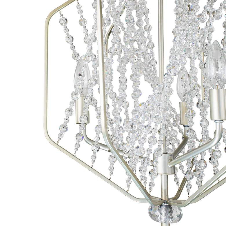 "Varaluz Chelsea 17"" Wide Silverado and Crystal Pendant more views"