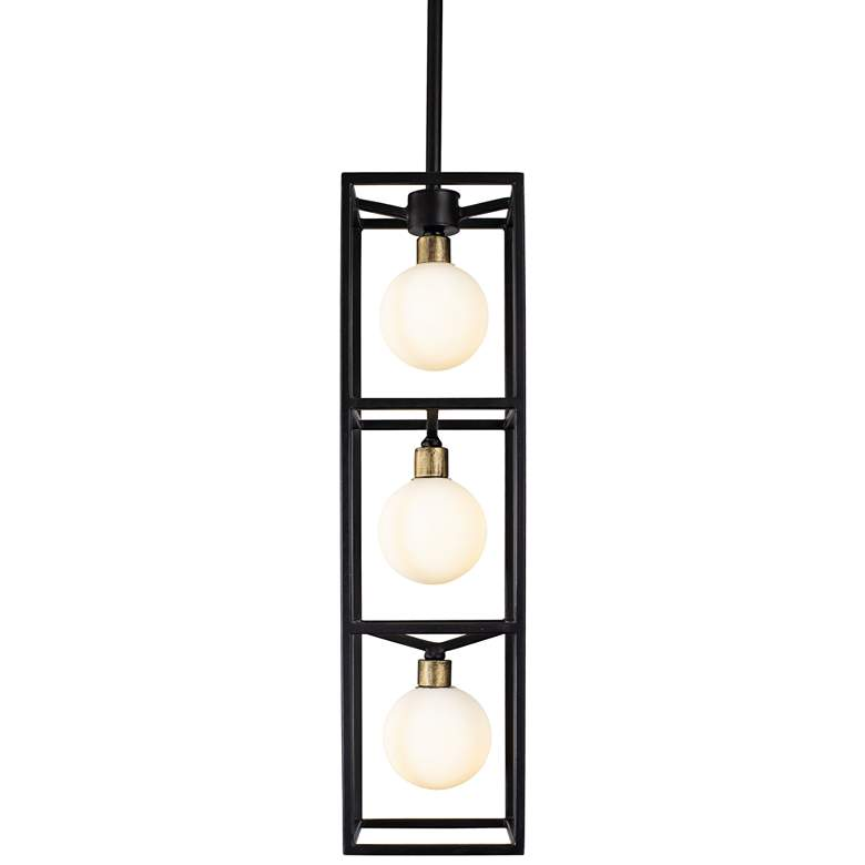 "Varaluz Plaza 6"" Wide Carbon 3-Light LED Foyer Mini Pendant more views"