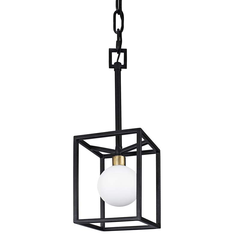 "Varaluz Plaza 6""W Carbon and Havana Gold LED Mini Pendant more views"