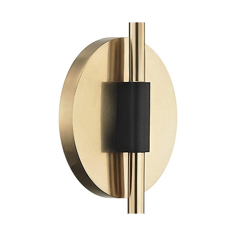 "Mitzi Renee 20"" High Aged Brass Globe Wall Sconce more views"