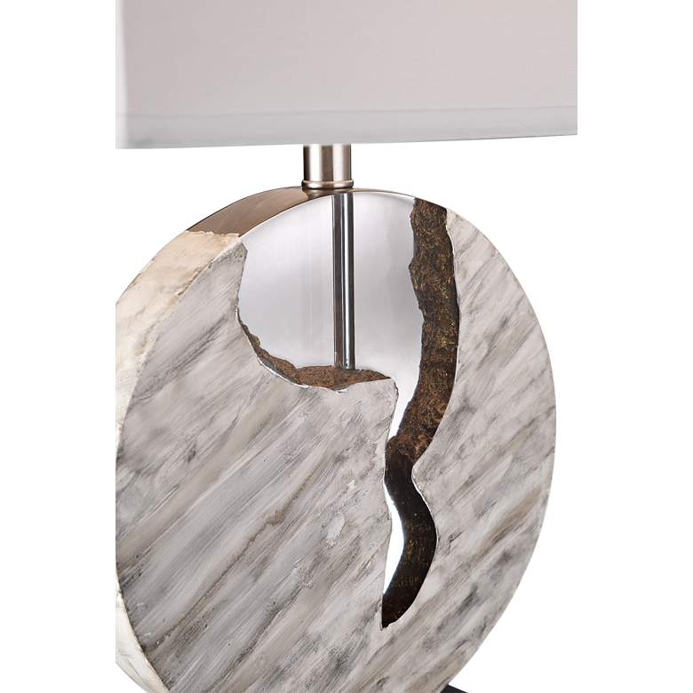 Lite Source Reeder Faux Marble and Acrylic Table Lamp more views