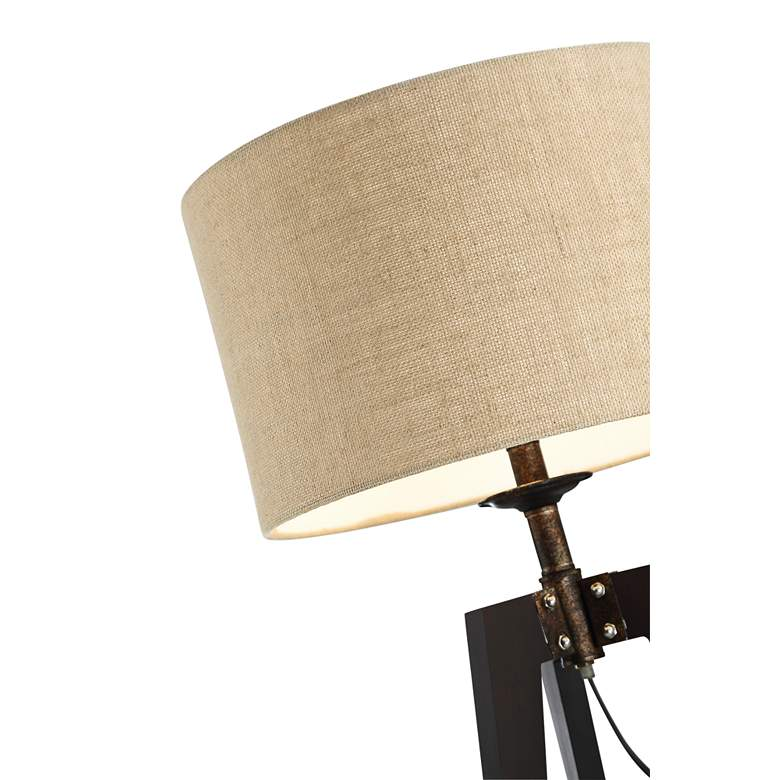 Lite Source Wellor Black Metal Tripod Table Lamp more views