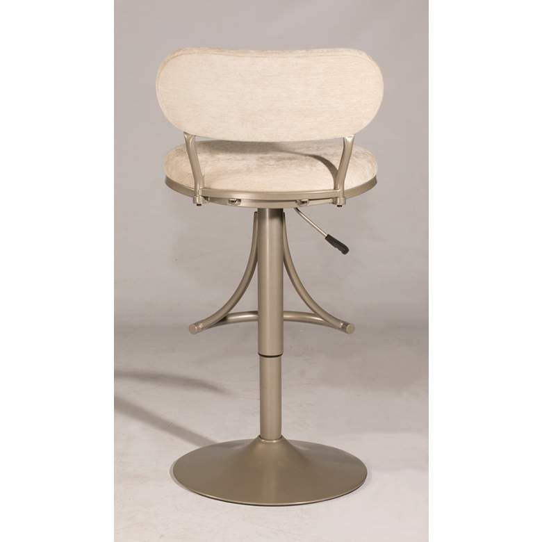 Hillsdale Athena Plush Bone Adjustable Swivel Bar Stool more views