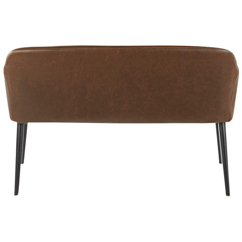 Shelton Espresso Faux Leather 2-Seater Bench more views