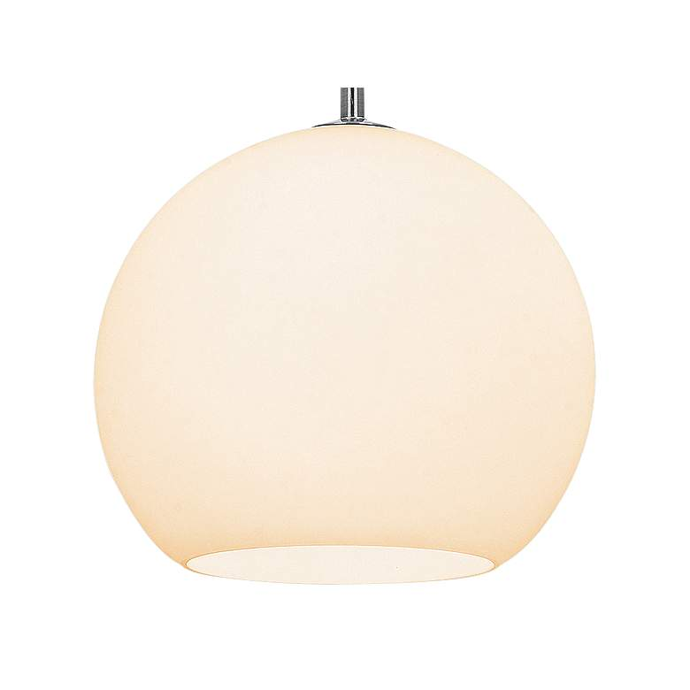 "Nitrogen 9"" Wide Brushed Nickel and Glass LED Mini Pendant more views"