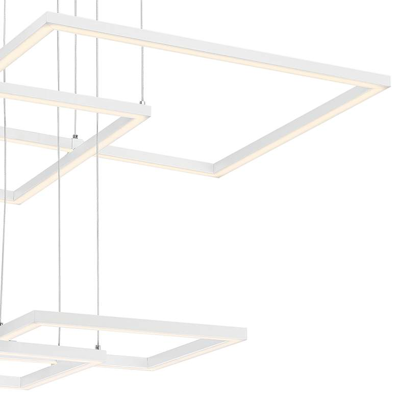 "Squared 30 1/4"" Wide White LED Pendant Light more views"
