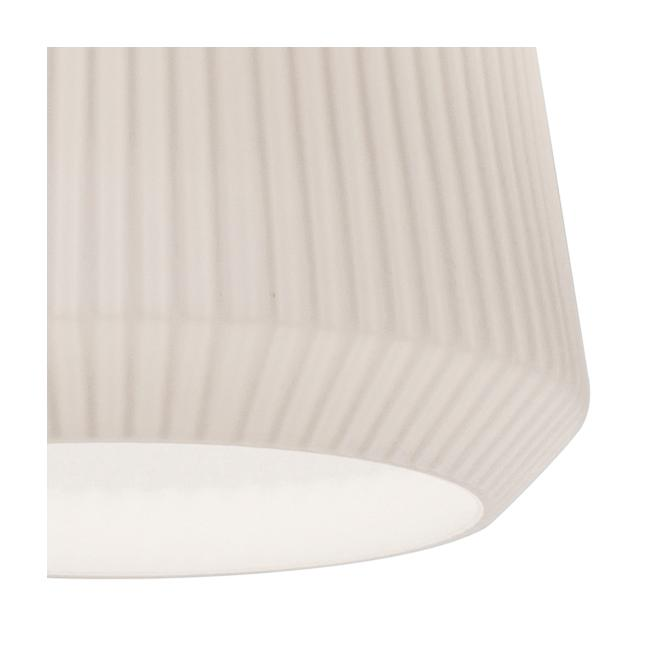 "Isla 11"" Wide Frosted White Ribbed Glass Mini Pendant"
