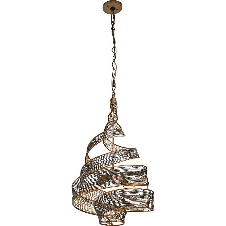 "Varaluz Flow 18"" Wide Hammered Ore Pendant Light more views"