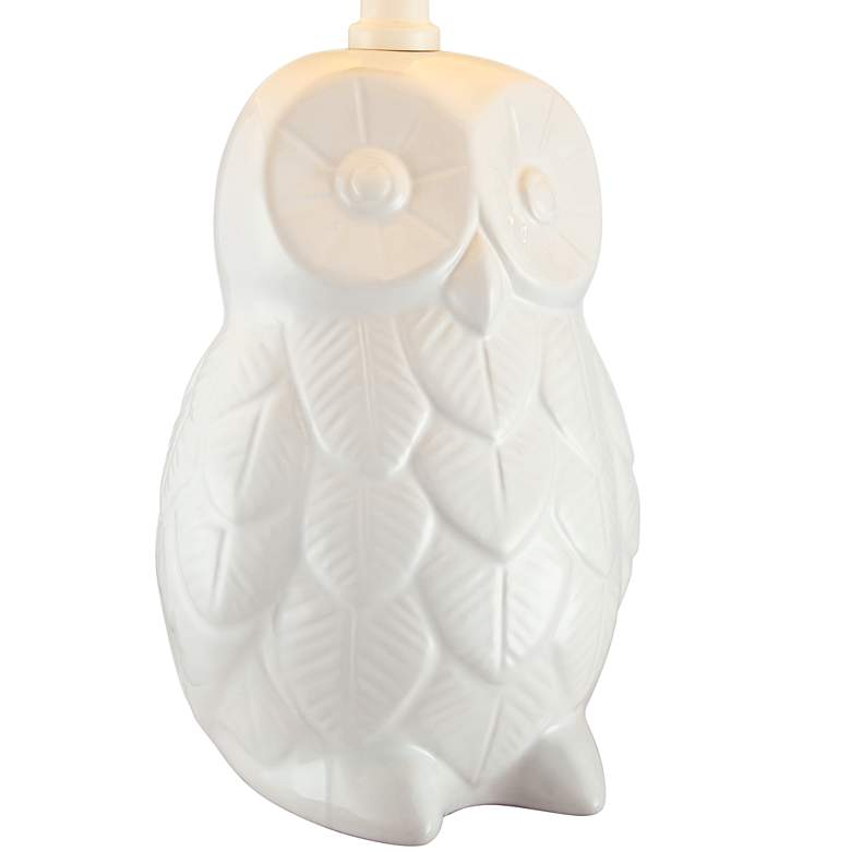 "Night Owl 19"" High White Ceramic Accent Table Lamp more views"