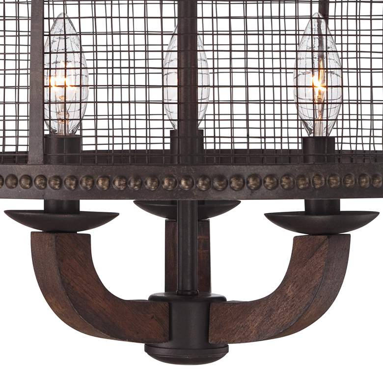 "Frankton Industrial 16"" Wide Bronze Ceiling Light more views"