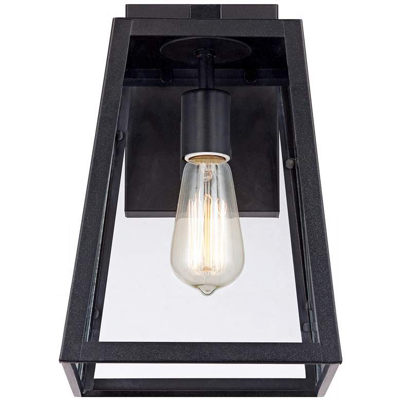"Arrington 13"" High Glass and Mystic Black Outdoor Wall Light more views"