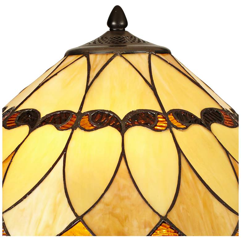 Robert Louis Tiffany Shiloh Scallop Art Glass Table Lamp more views