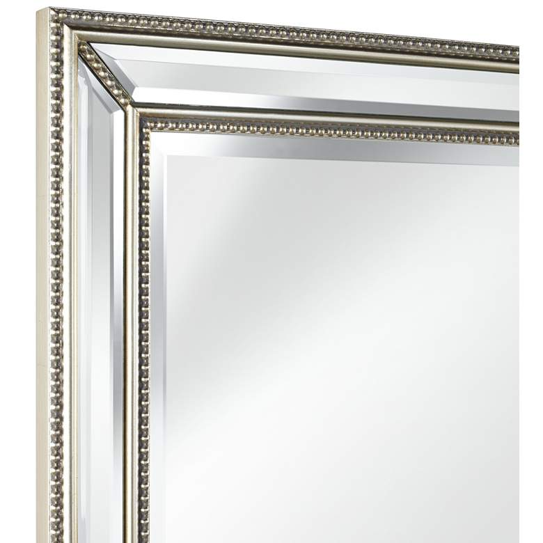 "Uttermost Palais Beaded 30"" x 40"" Silver Wall Mirror more views"