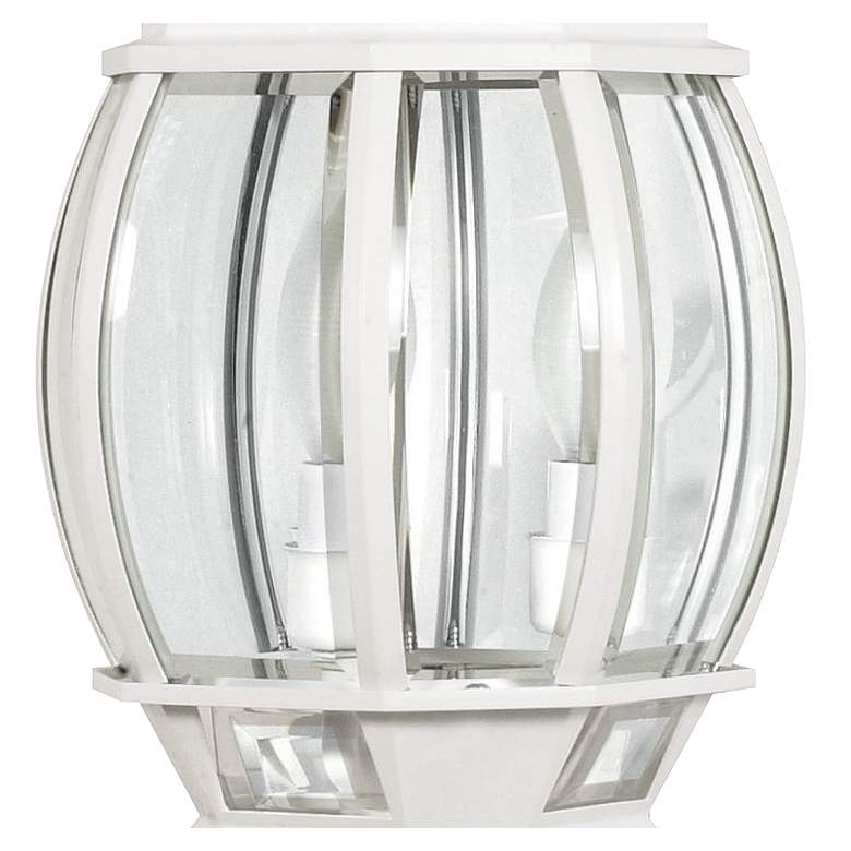 "Satco Central Park 21"" High White 3-Light Outdoor Post Light more views"