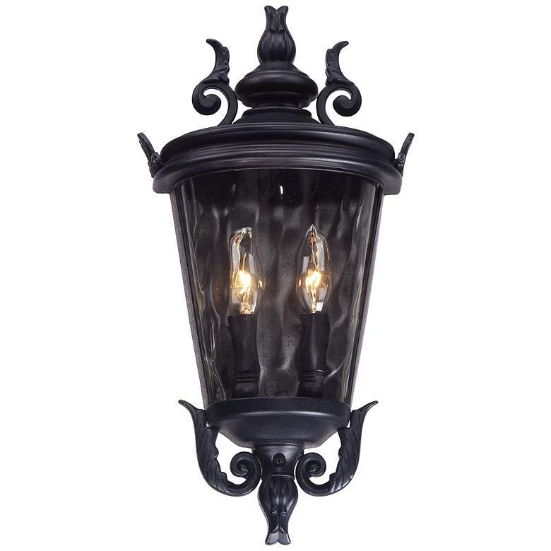 "Casa Marseille 17"" High Textured Black Outdoor Wall Light more views"