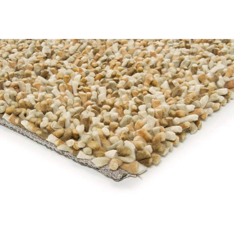 "Chandra Gems GEM9603 5'x7'6"" Taupe and Ivory Shag Rug more views"
