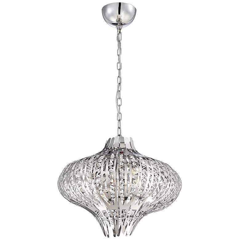 "Eurofase Monica 19 1/2"" Wide 6-Light Chrome Chandelier more views"