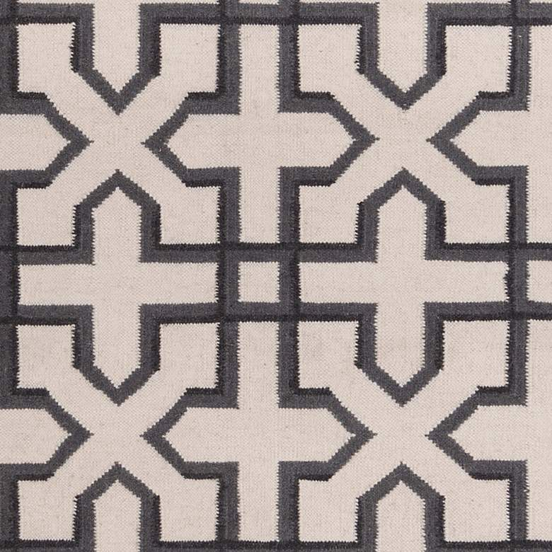 Chandra Lima LIM25740 5'x7' Gray and White Wool Area Rug more views