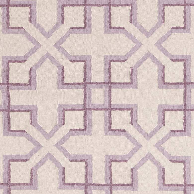 Chandra Lima LIM25741 5'x7' Purple and White Area Rug more views