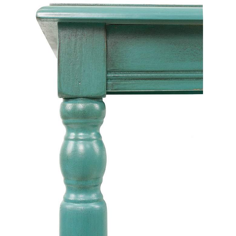 "Simplify 19 1/2"" Wide Blue Finish Traditional End Table more views"