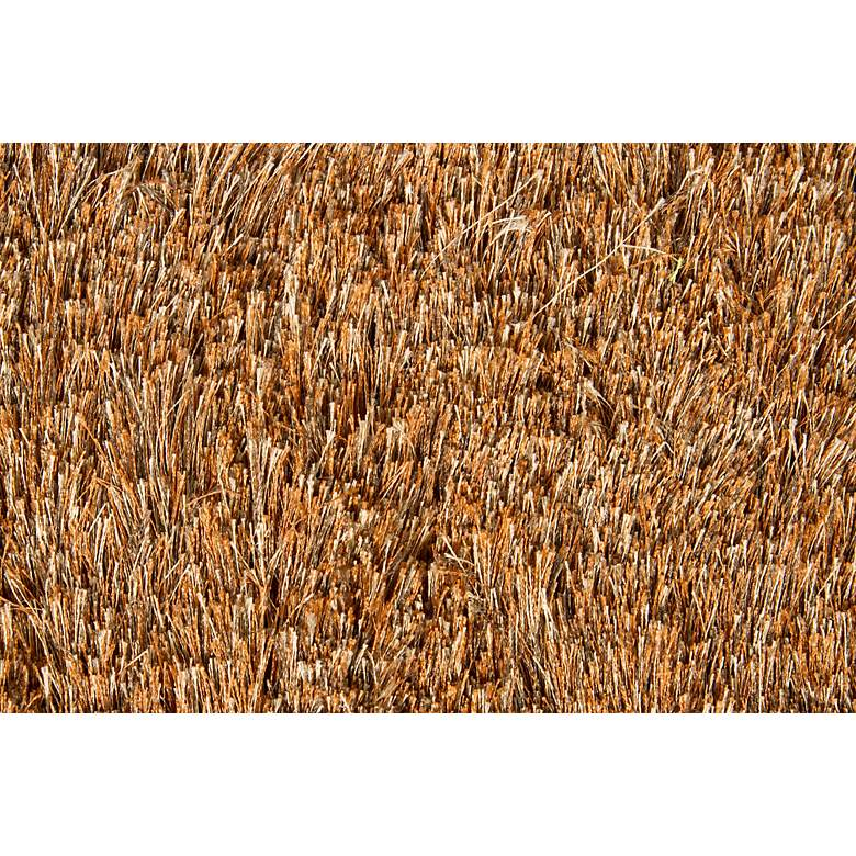 "Chandra Naya NAY18803 5'x7'6"" Brown Shag Area Rug more views"