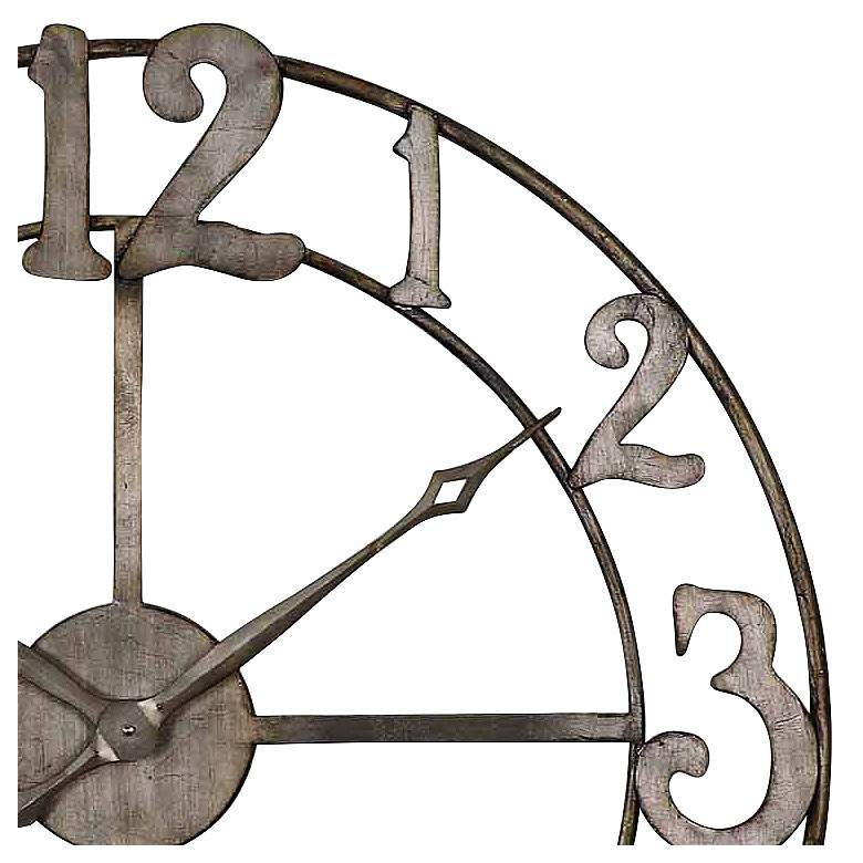"Uttermost Delevan Silver 32 1/4"" Round Wall Clock more views"