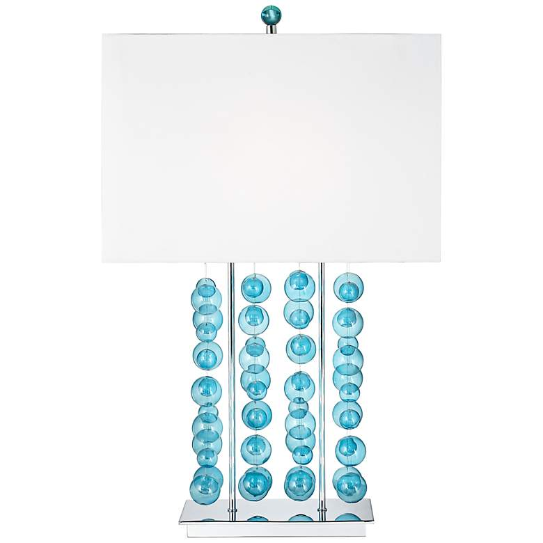 Possini Euro Design Blue Bubble Cascade Table Lamp more views