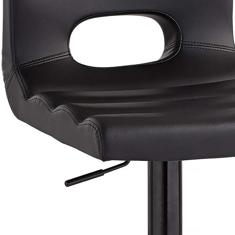 Donovan Black Faux Leather Adjustable Swivel Barstool more views