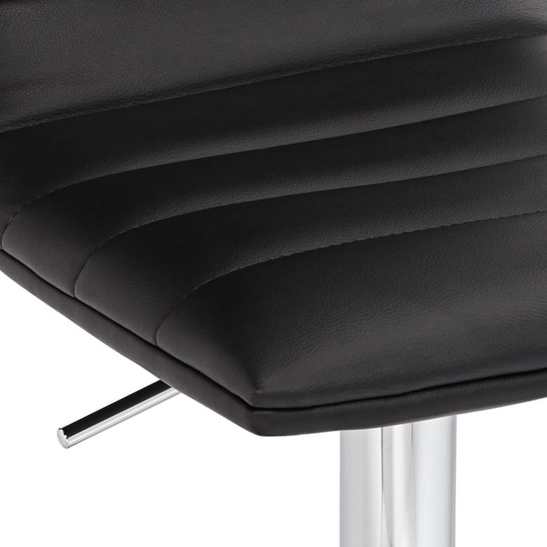 Motivo Black Faux Leather Adjustable Swivel Bar Stool more views
